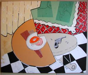 """Still Life with Gun & Donuts"" 2003"